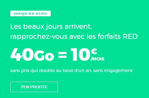 Forfait Red by SFR 40Go