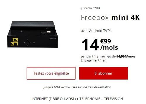 Offre Freebox Mini 4k en promo