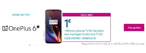 Vente Flash OnePlus 6t