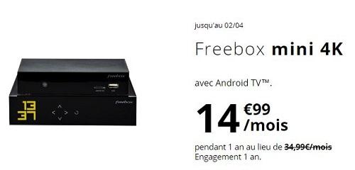Freebox Mini 4K pas chère