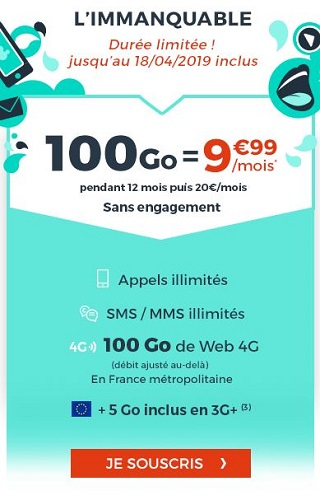 Forfait Cdiscount Mobile 100Go