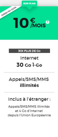 Forfait 30Go red by sfr