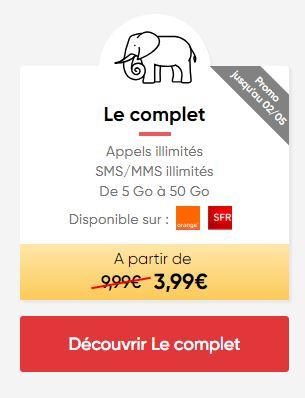 Forfait mobile ajustable Prixtel