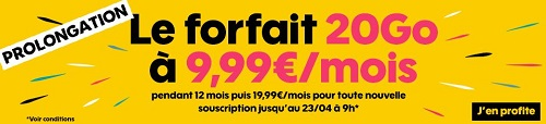 Forfait Sosh 20Go en promo