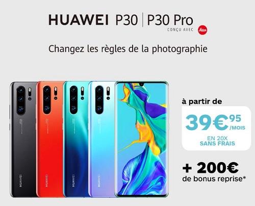 Boulanger Opération spéciale Huawei P30