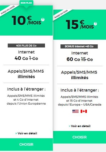 Forfaits RED by SFR pas chers