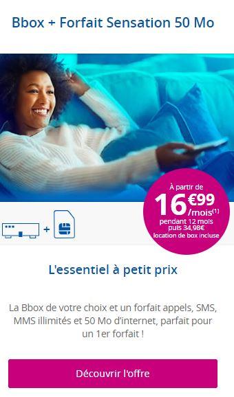 Pack Bouygues Telecom pas cher