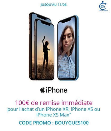 100 euros de remise iphone Bouygues Telecom