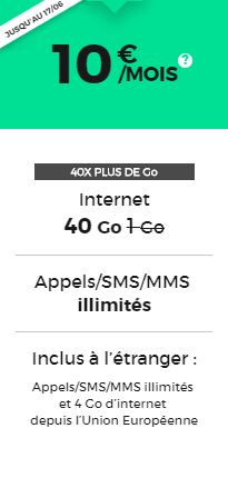 Forfait RED by SFR pas cher