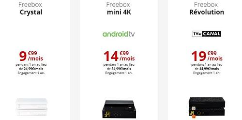 Toutes les Freebox en promo