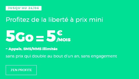 Forfait RED by SFR 5 euros