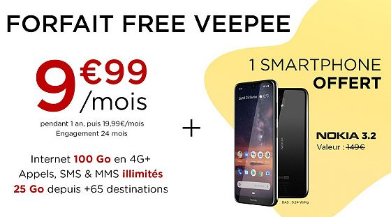 Veepee x Free Mobile : un Smartphone Nokia offert