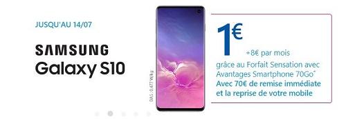 Bon plan Samsung Galaxy S10 Bouygues Telecom