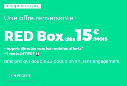 BOX RED pas chère