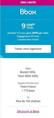 BBOX pas chère Bouygues Telecom