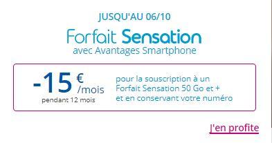 Forfaits Sensation Bouygues Telecom en promo