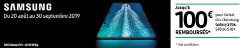 Remboursement Samsung Galaxy S10