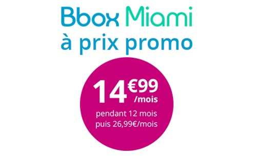 Bouygues Telecom : La Bbox Miami à prix promo jusqu'à dimanche