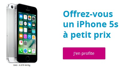 l iphone 5s prix r duit chez bouygues telecom. Black Bedroom Furniture Sets. Home Design Ideas