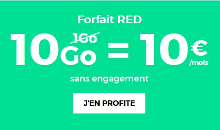 red by sfr, forfait 10Go