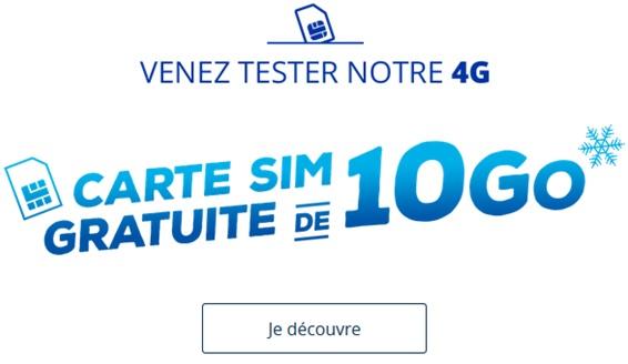 carte sim gratuite bouygues Avez vous commandé votre carte SIM gratuite de 10Go chez Bouygues