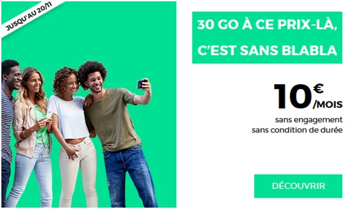 red by sfr, promo, forfait mobile