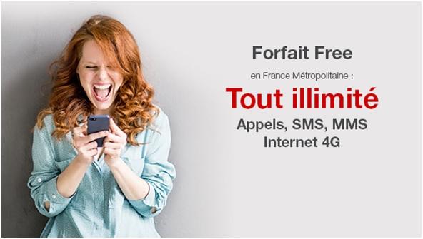free mobile, data illimitée, forfait mobile