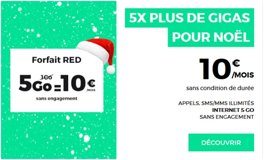 red by sfr, forfait mobile