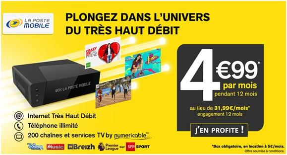 La Poste Mobile : La Box TV Plus disponible en vente privée à 4.99 euros