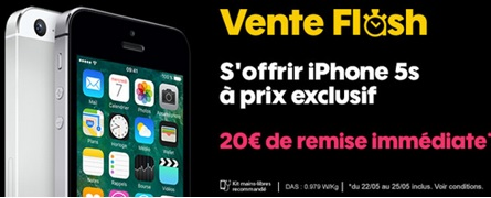 sosh, iphone 5s, vente flash