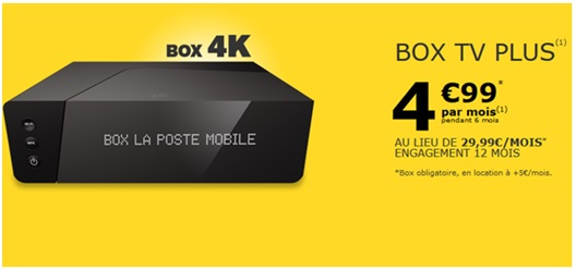 box tv plus, la poste mobile, FAI