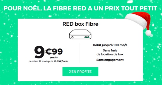 red by sfr, red box fibre, noël