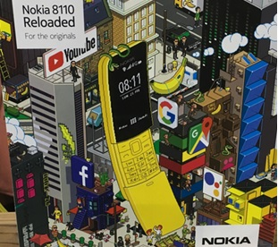nokia 8110, mobile, MWC 2018