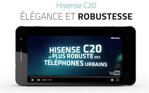 Hisense C20 : Un smartphone ultra-robuste disponible chez Bouygues Telecom