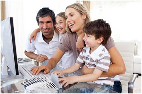 Internet, famille, smartphone