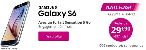 Le Samsung Galaxy S6 en vente flash chez Bouygues Telecom