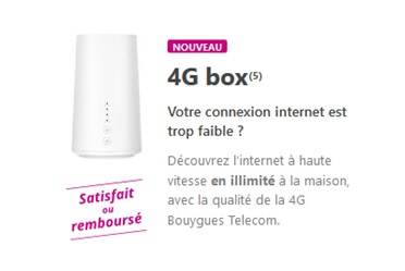 bouygues Telecom, 4G box