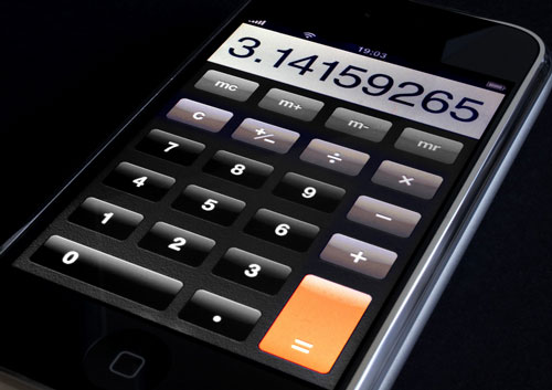image de la calculatrice iphone