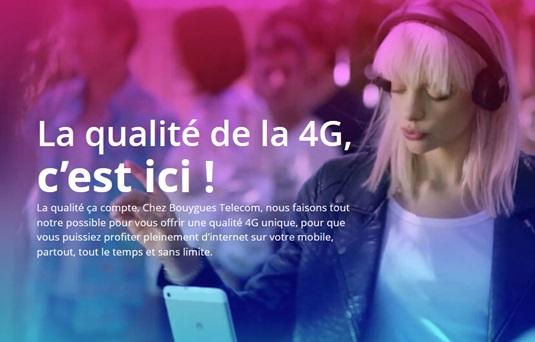 4G : réseau Bouygues Telecom de qualité