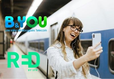 Promo mobile : les forfaits illimités 40Go et 60Go chez RED by SFR et B&You à prix cassés