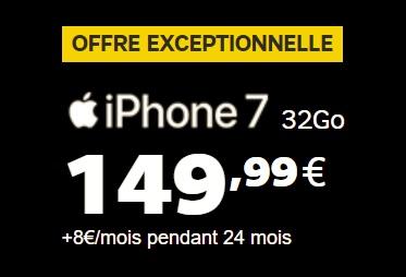 Offre exceptionnelle pour l'achat d'un iPhone 7 avec le nouveau forfait Power 50Go