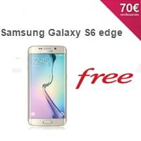 Offre exceptionnelle Free : Le Samsung Galaxy S6 edge à 49€ à la commande jusqu'au 18 Octobre