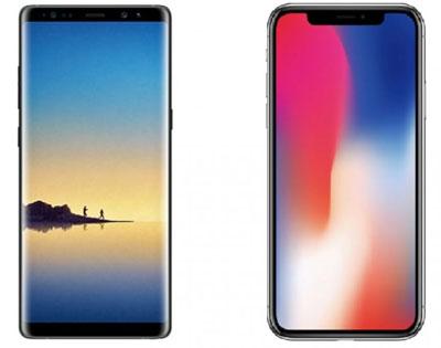 Samsung Galaxy Note 8 vs iPhone X : Lequel choisir ?