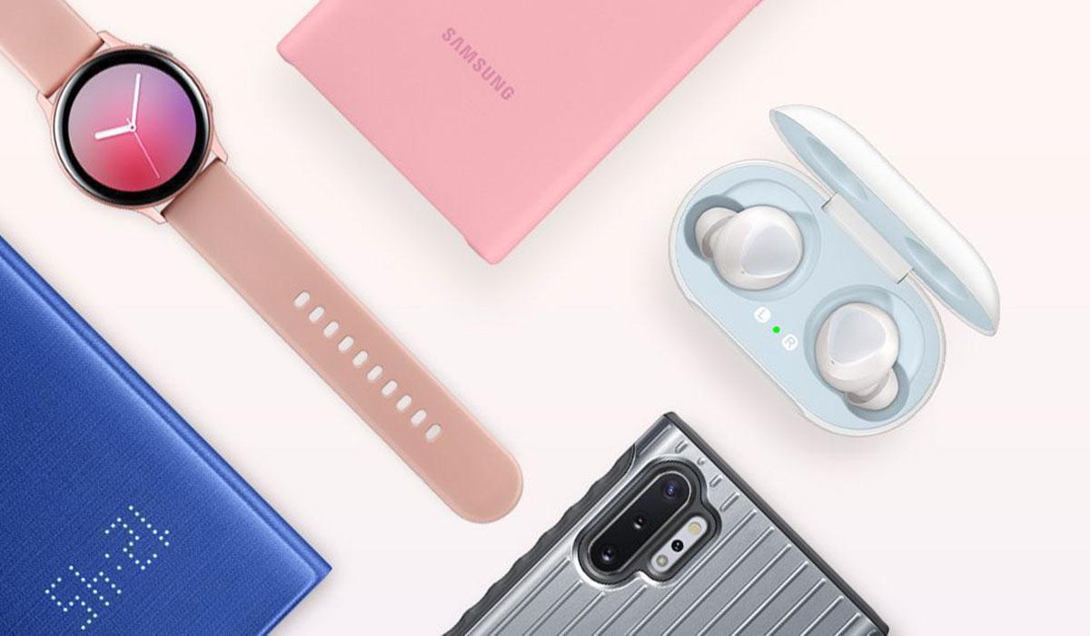 Galaxy note 10 avec accessoires