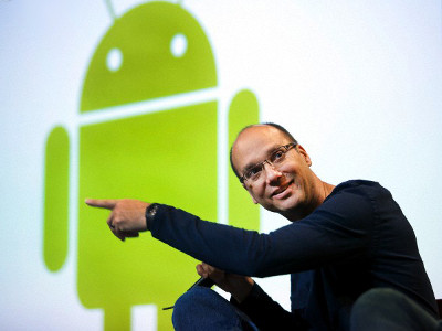 Andy Rubin et le logo android