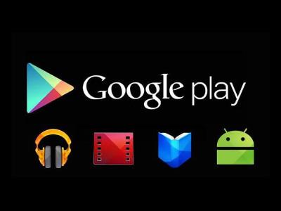 Logo Google Play avec logos applications en dessous