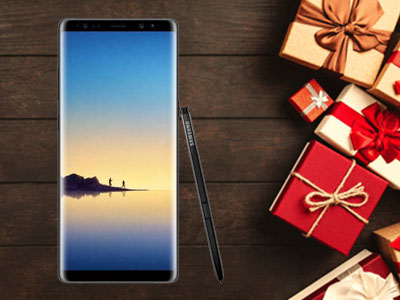 Le Galaxy Note 8 de face avec le S Pen