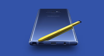 Le Galaxy Note 9 de dos