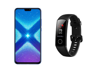 le Honor 8X et la montre Band4
