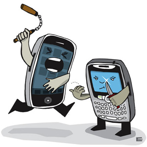 Forfait BlacBerry ou iPhone? IPhone-VS-BlackBerry
